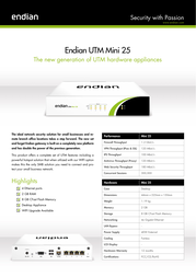 Endian UTM Mini 25 Firewall Router Specification Guide