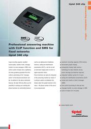 Tiptel Answering machine Tiptel 340 Clip 1068570 Leaflet