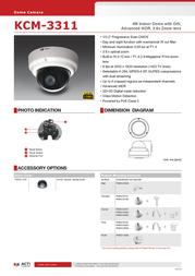United Digital Technologies KCM-3311 Merkblatt