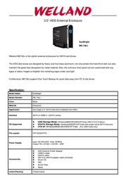 Welland ME-740J 1022171 Leaflet