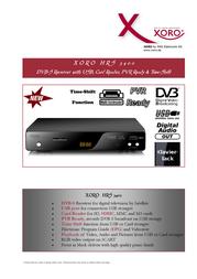 Xoro HRS 3400 SAT100345 Leaflet