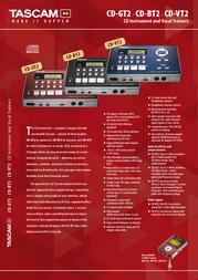 Tascam CD-GT2 Leaflet