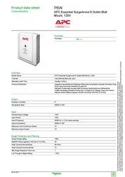 Schneider Electric P6W Data Sheet