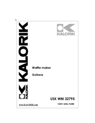 KALORIK Kalorik - Team International Group Waffle Iron USK WM 32795 User Manual