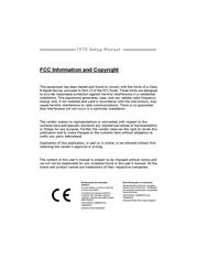 Biostar TP75 Owner's Manual