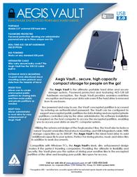 Apricorn Aegis Vault 80GB A25-VLT-80 Leaflet