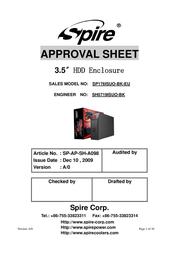 Spire Slider Pro IDE+SATA SP176ISUO-BK-EU User Manual