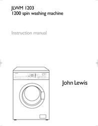 John Lewis JLWM 1203 Instruction Manual