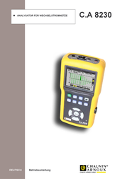 Chauvin Arnoux CA 8230 Mains-analysis device, Mains analyser P01.1606.32 User Manual