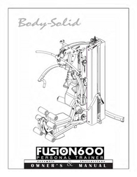 Body Solid Total Body Workout Personal Trainer Fusion 600 User Manual