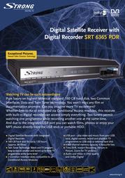 Strong SRT 6365 PDR SRT6365PDR Leaflet