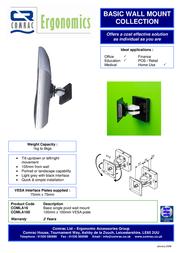 Comrac Basic Wall Mount COMLA16 Leaflet
