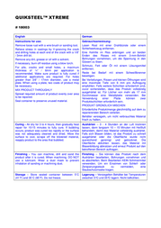 Quiksteel 16002EU 56.8 g 16002EU Data Sheet