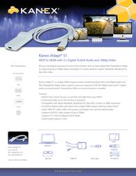 Kanex iAdapt 51 Mini DisplayPort - HDMI + Audio MDPHDMITOS Leaflet