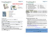 Belgacom SPA942 Leaflet