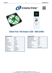 Cooltek Silent Fan 140 CT140LG Leaflet