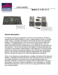 Active Thermal Management System 2 Kit 00-201-02 Data Sheet