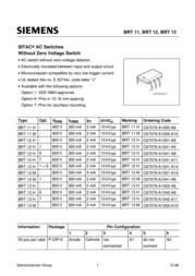 Vishay SITAC AC switchesBRT12H/C67079-A1001-A06 BRT 12 H Data Sheet