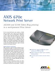 Axis 670E TR   PRINT SERVE 0057-7 Leaflet