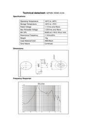Kepo SH1770 Miniature Speaker 8 Ω 1.1 K Hz SH1770 Data Sheet