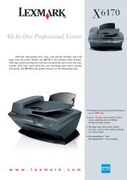 Lexmark X6170 NL FR 19ppm 4800dpi A4 USB 15K0004 Leaflet