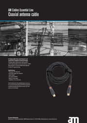 AM Essential Cable Antenna 3m AM75493 Leaflet