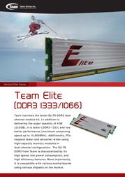 Team Group Elite Ram TED32G(M)1066HC7DC01 Leaflet