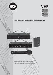 RCF RX1001 User Manual