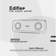 Edifier MP221 User Manual