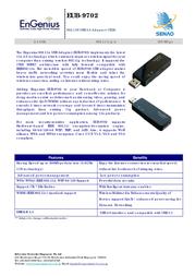 EnGenius EUB-9702 Wireless-N (Draft 802.11n) USB Adapter EUB-9702 Leaflet