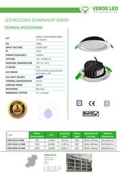 Verde LED VER-D205-20-840 Leaflet