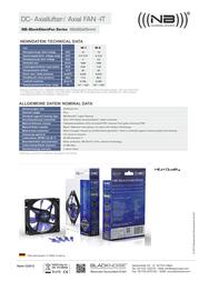 Noiseblocker XE1 Data Sheet
