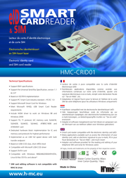 H'mc eID Smart Card Reader + SIM HMC-CRID01 Leaflet