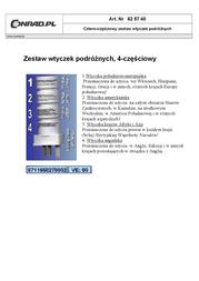 ISOTRONIC Travel adapter plugs Set of 4 travel plugs White 1950 Leaflet