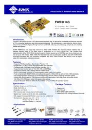 Sunix FWB3414G Leaflet