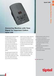 Tiptel Digital Answering Machine Tiptel 205 TIPTEL205 Leaflet