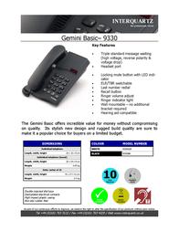Interquartz 9330B4 Leaflet