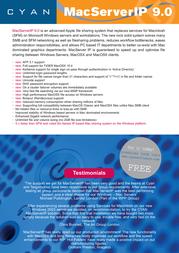 Cyansoft MacServerIP 9.0 20-4698 Leaflet