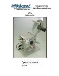 Universal Remote Control L60 User Manual