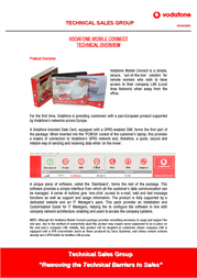 Vodafone MOBILE CONNECT CARD 4413007 User Manual