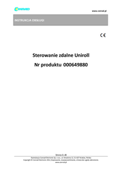 Uniroll Remote control for belt winder R-23710 Suitable for Uniroll Typ 2-5 R-23710 Data Sheet