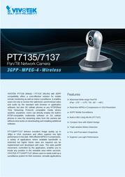 VIVOTEK WLAN Network Camera PT7137 Specification Guide