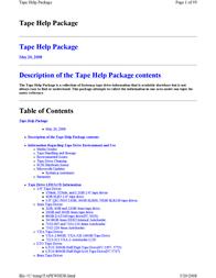 IBM SLR-60 Tape Cartridge 19P4209 User Manual