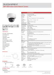 Hikvision Digital Technology DS-2CD4132FWD-IZ Leaflet