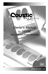 Coustic 160SE User Manual