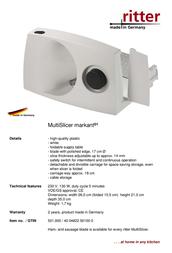 Ritter Markant 01 0560465 Leaflet