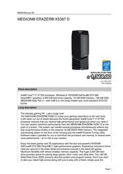 Medion ERAZER X5387 D 310017905 User Manual