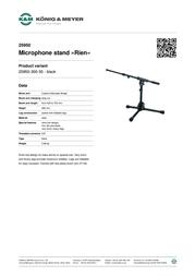 König & Meyer 25950 25950-300-55 Leaflet