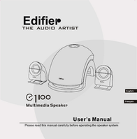 Edifier E1100 User Manual