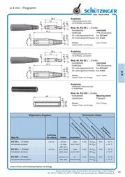 Schuetzinger Jack socket Socket, straight Pin diameter: 4 mm Blue Schützinger KU 09 L / BL 1 pc(s) KU 09 L / BL Data Sheet